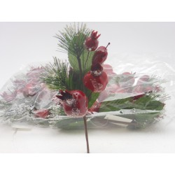 PICK BERRY DECOR. ROSSO CM. 20