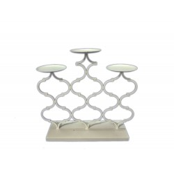 CANDELABRO METALLO X 3 ARABESQUE CM. 34 X 31 H.