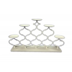 CANDELABRO METALLO ARABESQUE X 5 CM. 57 L X 31 H.