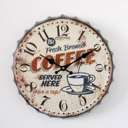 OROLOGIO COFFEE TAPPO METALLO 31 CM.